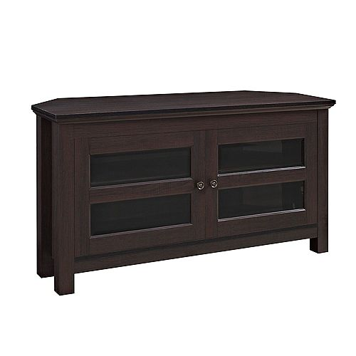 Modern Farmhouse Corner TV Stand for TV's up to 48 inch - Espresso