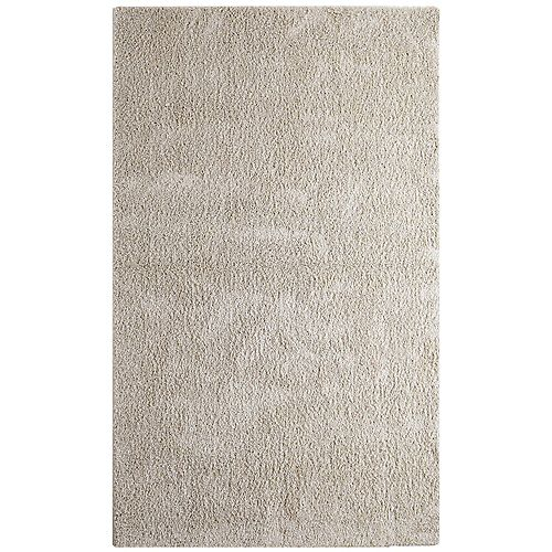 Lanart Rug Dulce Shag Ivory/Off-White 5 ft. x 7 ft. Indoor Area Rug