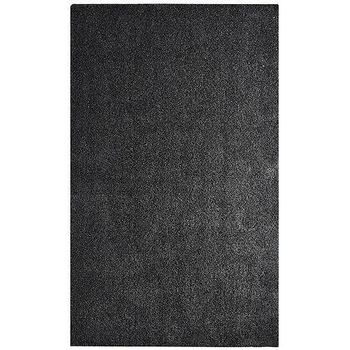 Lanart Rug Dulce Shag Charcoal 5 ft. x 7 ft. Indoor Area Rug