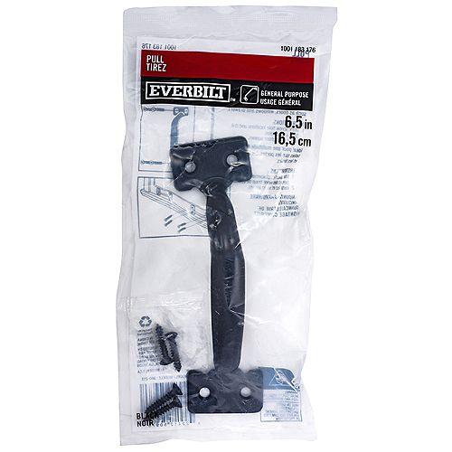 Everbilt 6-1/2 in tire-porte à usage général, noir, 1pc