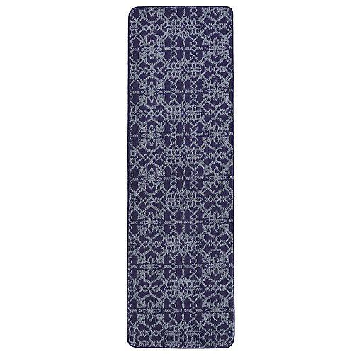 Lanart Rug Fashion Loop Blue Tile 2 ft. x 6 ft. Indoor Runner