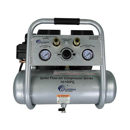 1.0 HP  1.6  Gal Quiet Flow Oil-Free Steel Tank Air Compressor