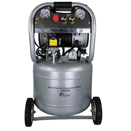2.0 HP 10.0 Gal Quiet Flow Oil-Free Steel Tank Air Compressor