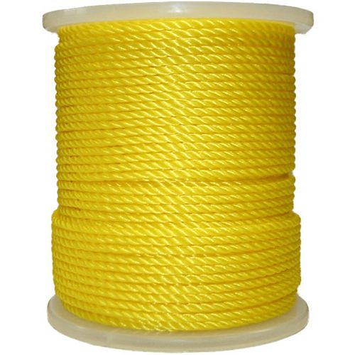 BEN-MOR Rope Polypropylene Twisted Yellow 1/4 inch X 550 ft.