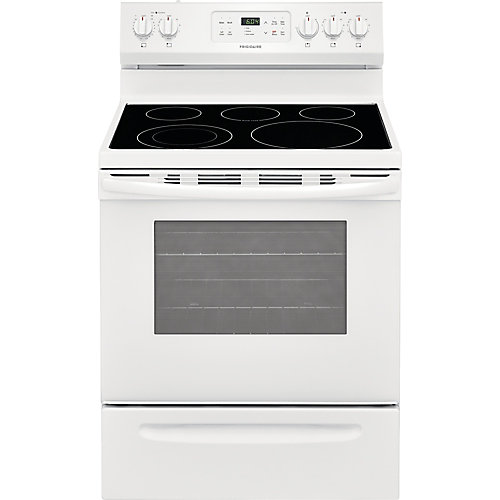 30-inch 5.3 cu. ft. Freestanding Electric Range with Self-Cleaning Oven in White