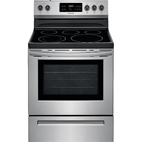 30-inch 5.0 cu. ft. Freestanding Electric Range with Self-Cleaning Oven in Stainless Steel