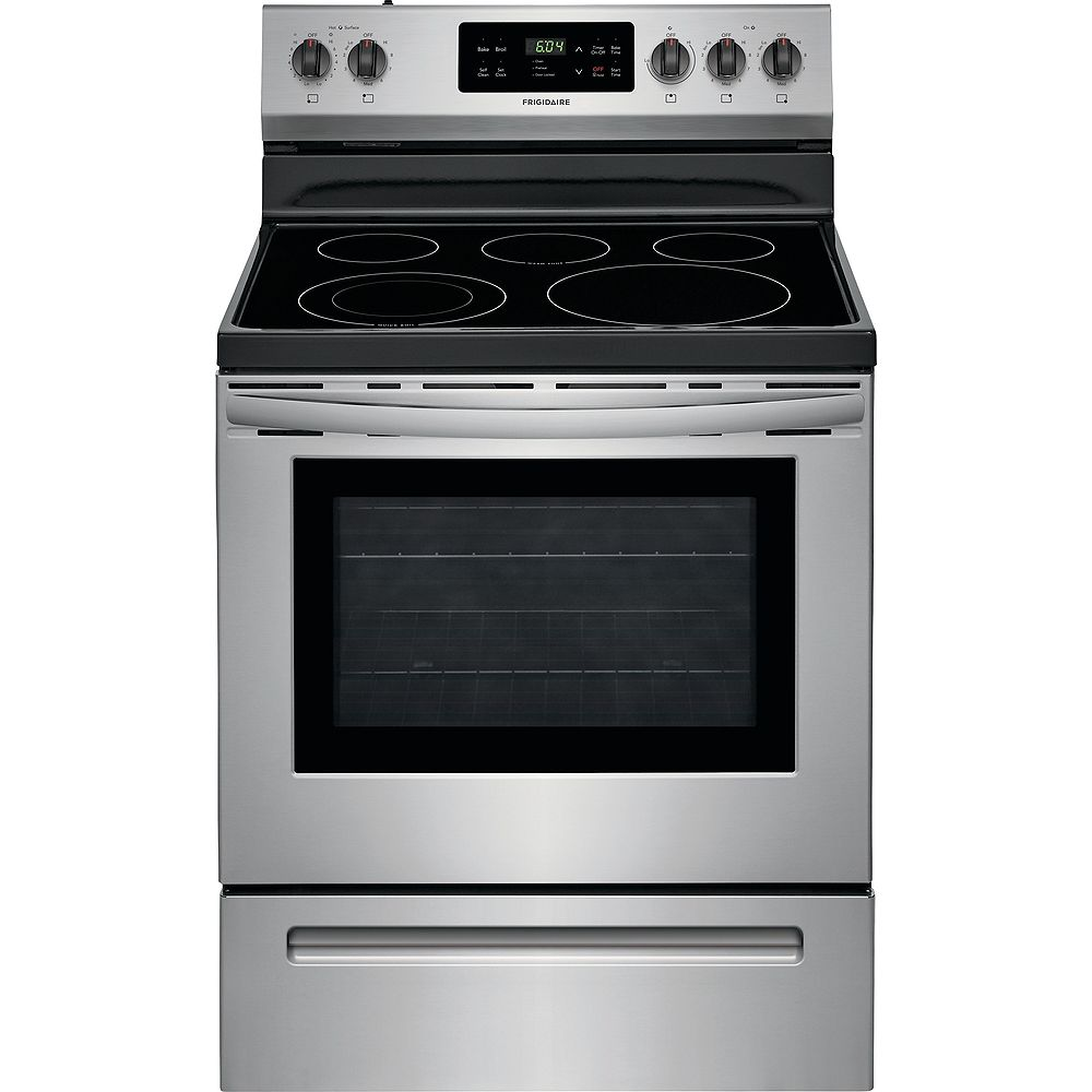 Frigidaire 30-inch 5.3 cu. ft. Freestanding Electric Range with Self-Cleaning Oven in Stainless Steel
