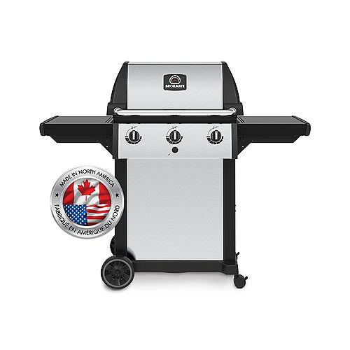 3 Burner 40,000 BTU Propane Therma-Cast Pedestal BBQ