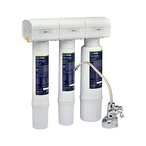 EcoPure Water Purifier Replacement Chlorine, Lead, and Microbe Filter Set