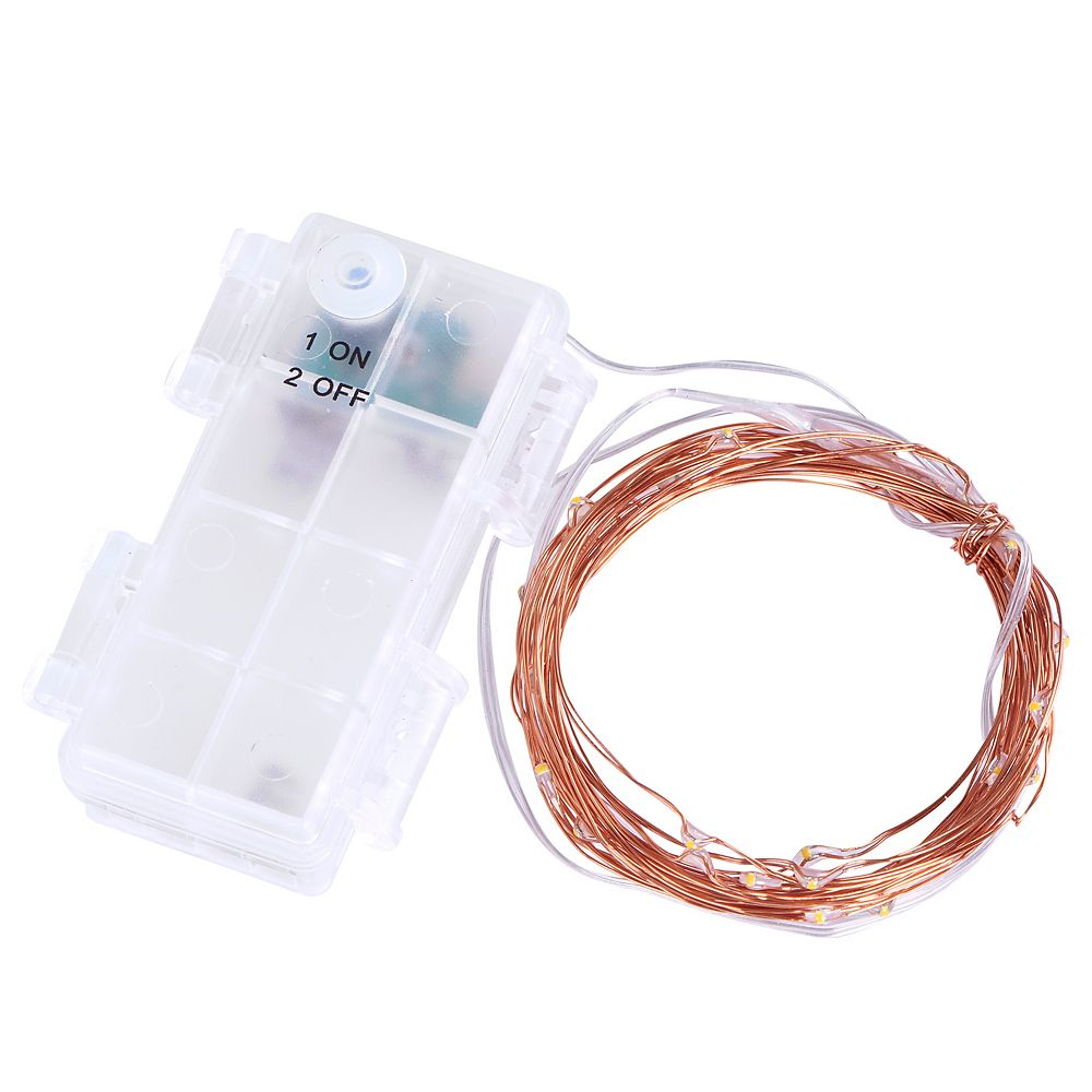 Sterno Home 12 Ft Battery Operated Led String Light 2pk The Home Depot Canada
