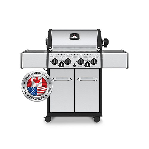4 Burner 40,000 BTU Stainless Steel Propane BBQ with Side Burner and Rotisserie