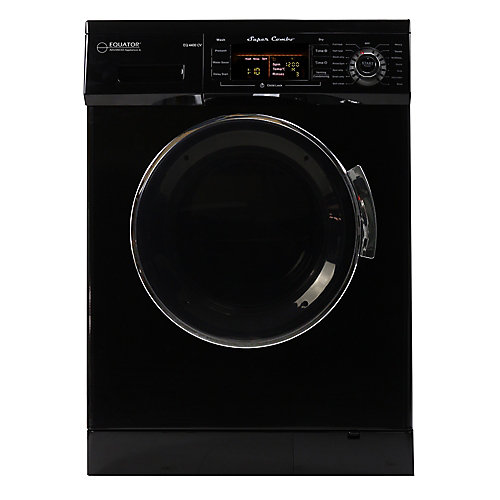 All-in-one 110V, 1200 RPM Compact Combo Washer Dryer with Condensing/Venting and Sensor Dry, Black