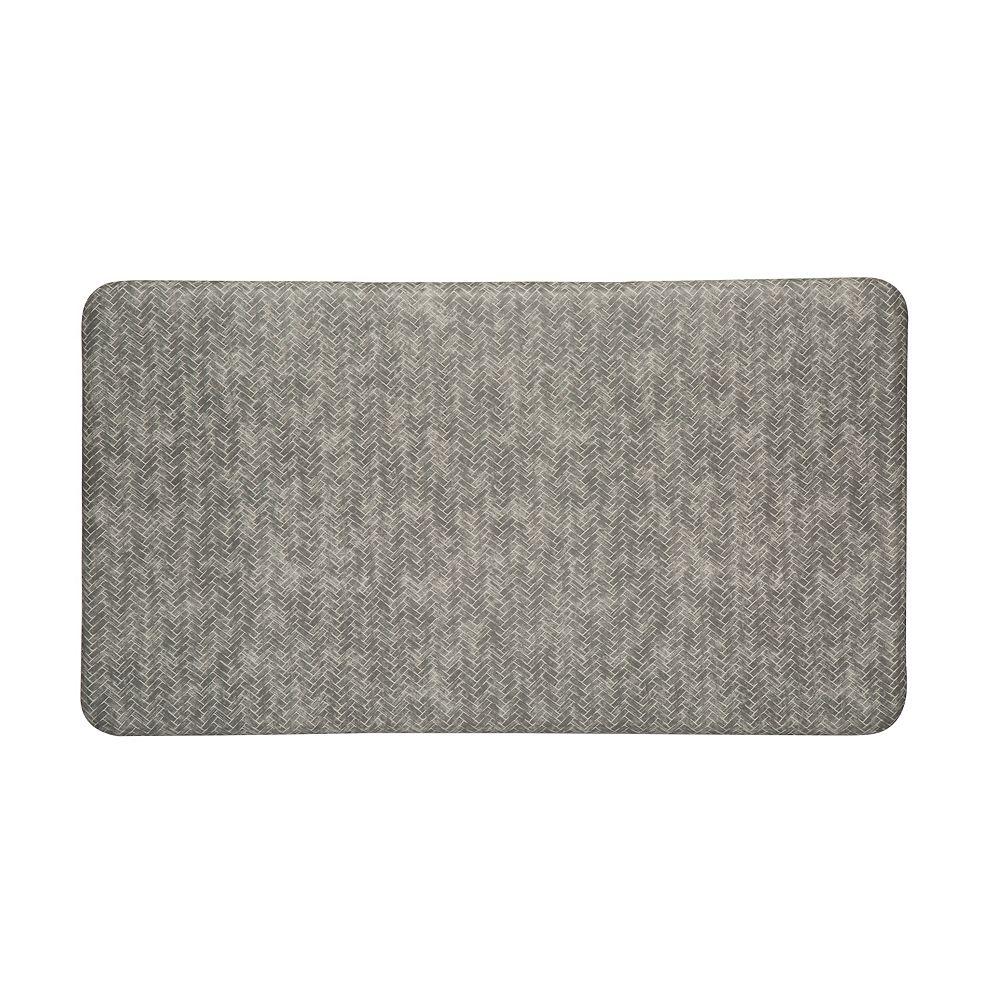 Imprint Comfort Mats Chevron Series Anti Fatigue Mat 26-inch x 72-inch x 5/8-inch Dove