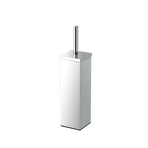 Élégant carré moderne 14 5/8 po hauteur porte-balai de toilette chromé
