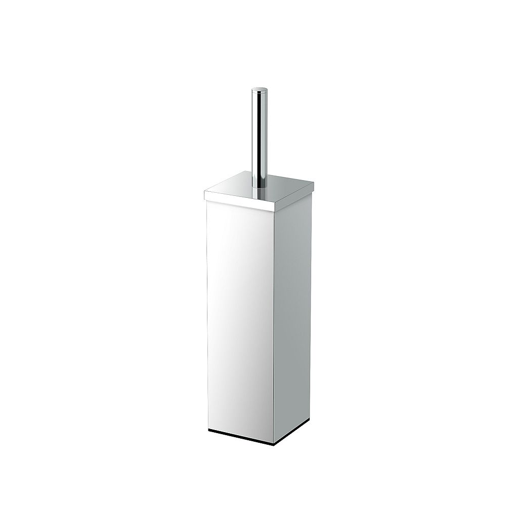Gatco Elegant Square Modern 14 5/8 inch H Toilet Brush Holder Chrome