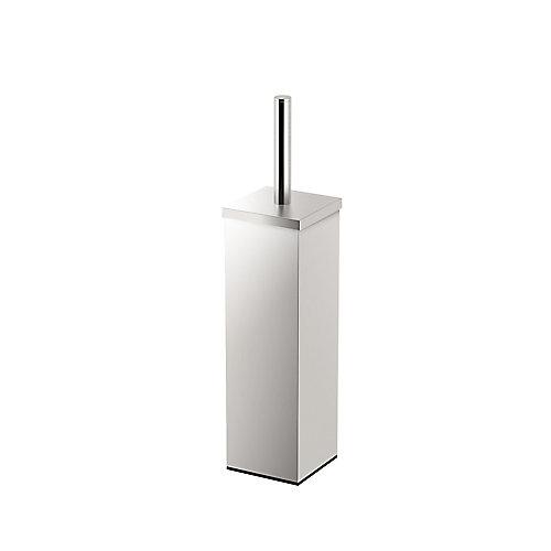 Élégant carré moderne 14 5/8 po hauteur porte-balai de nickel satiné