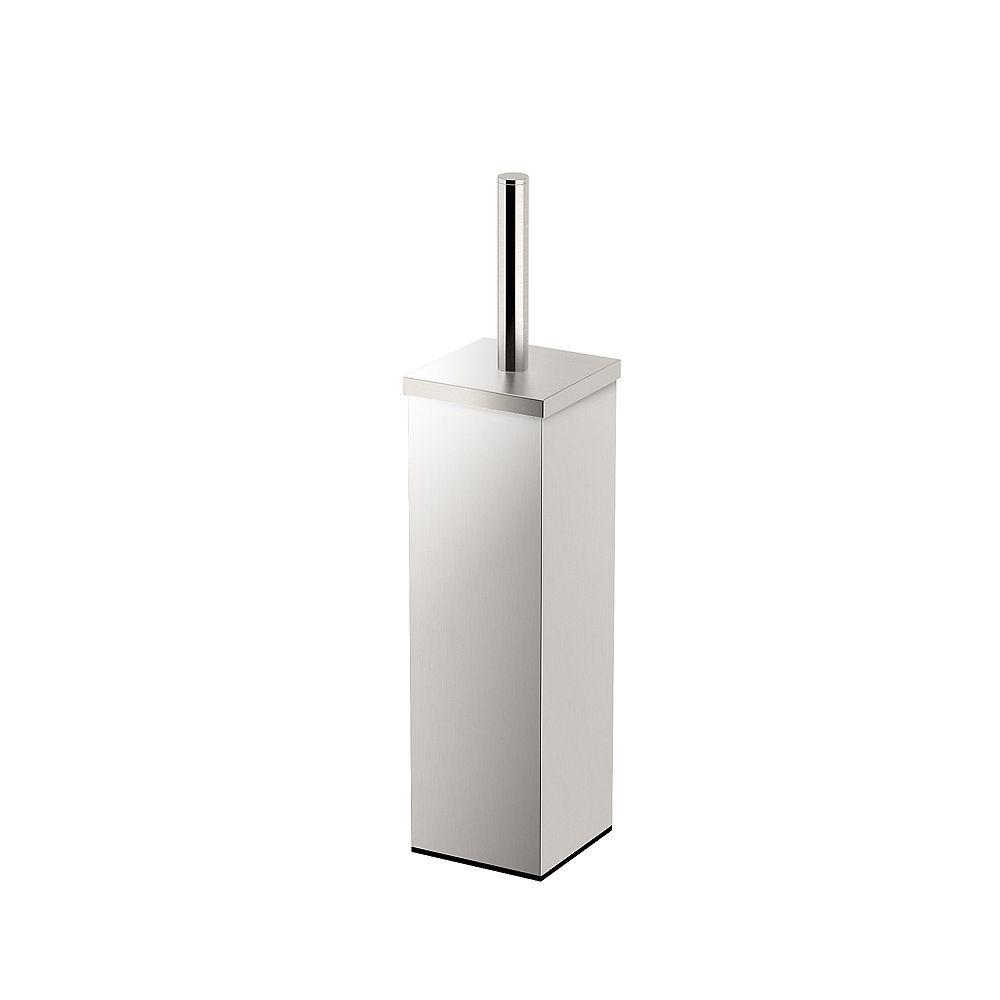 Gatco Elegant Square Modern 14 5/8 inch H Toilet Brush Holder Satin Nickel