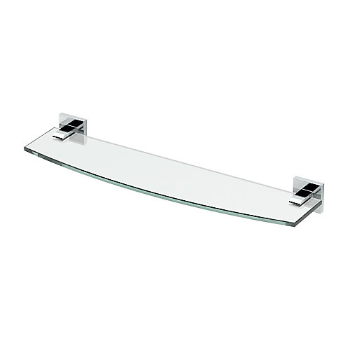 Elevate 20 1/8 inch L Glass Shelf Chrome