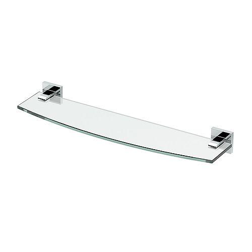 Elevate 20 1/8 inch L Glass Shelf Chrome