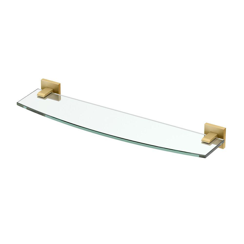 Gatco Elevate 20 1/8 inch L Glass Shelf Brushed Brass