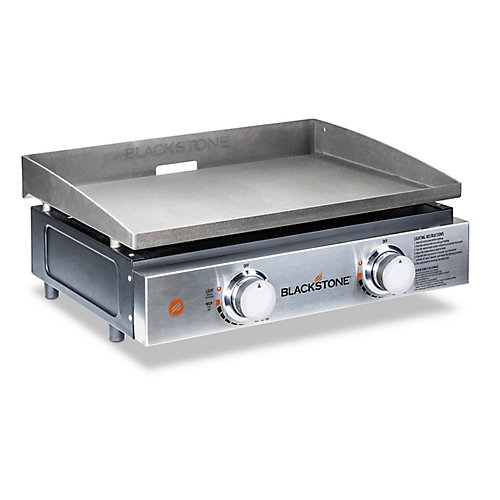 22-inch 2-Burner Propane Table Top Griddle in Stainless Steel