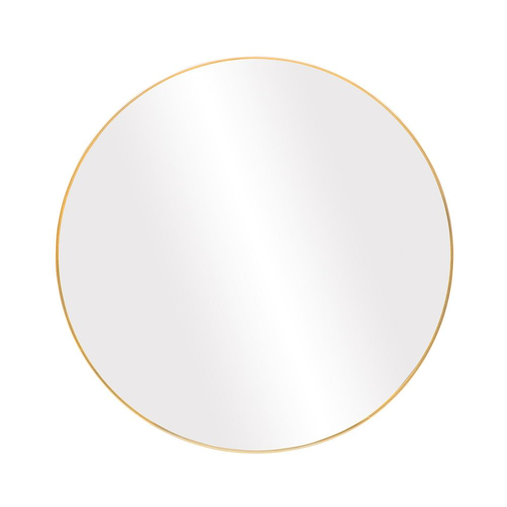 The Tangerine Mirror Company Infinity Round 28-inch Wall-Mounted Mirror in Satin Gold