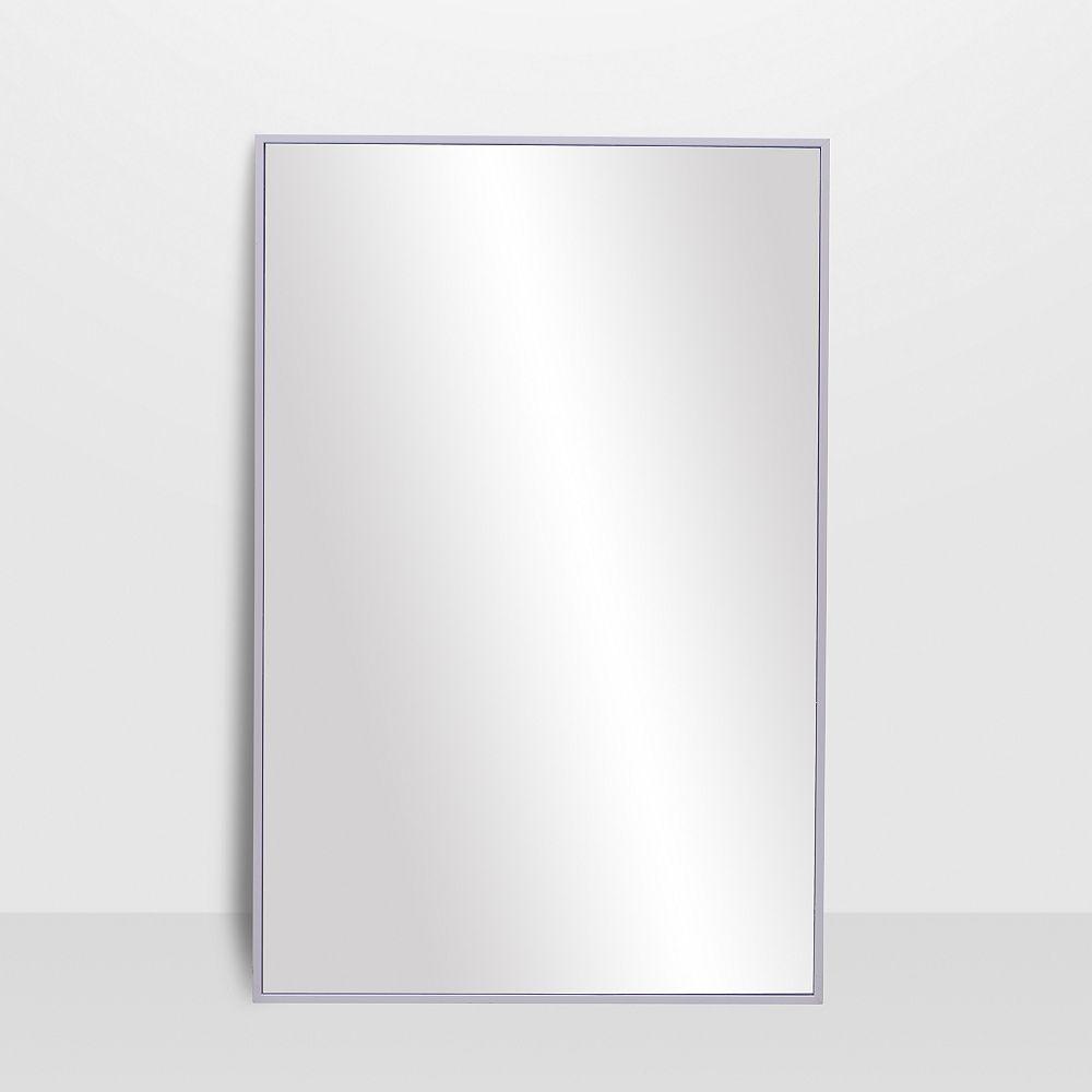 The Tangerine Mirror Company Infinity Satin White Vanity Mirror