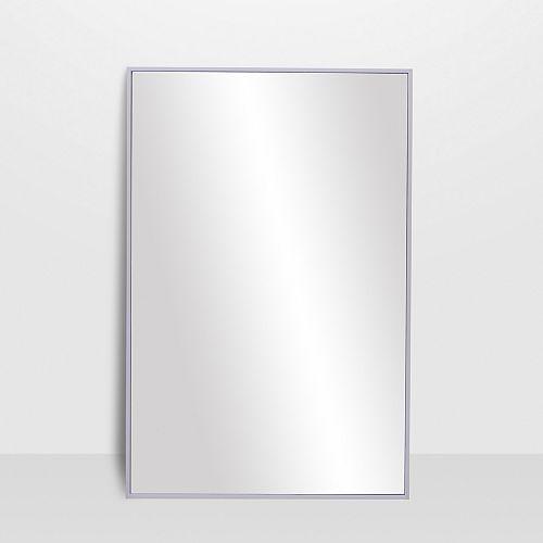 Infini, miroir blanc satiné