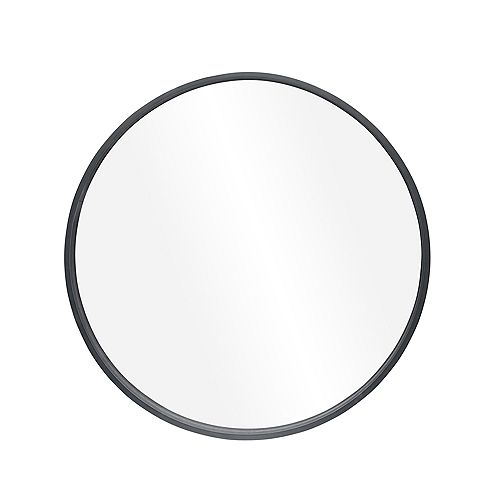 Denmark, miroir rond en bois gris