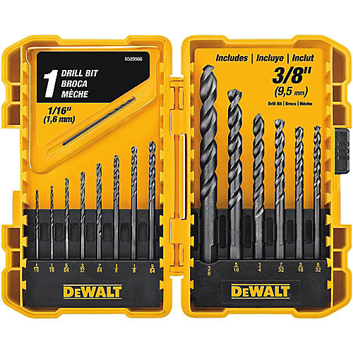 Black Oxide Drill Bit Set (15-Piece)