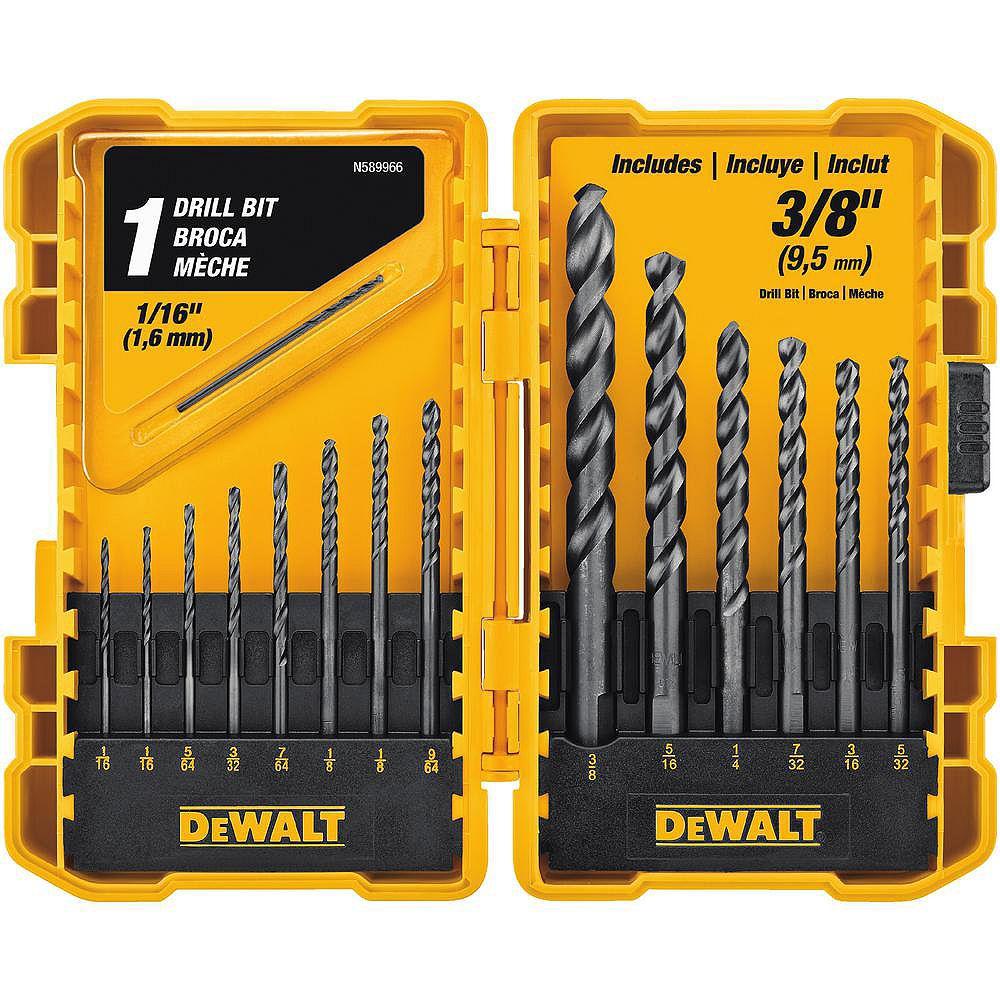 DEWALT Black Oxide Drill Bit Set (15-Piece)