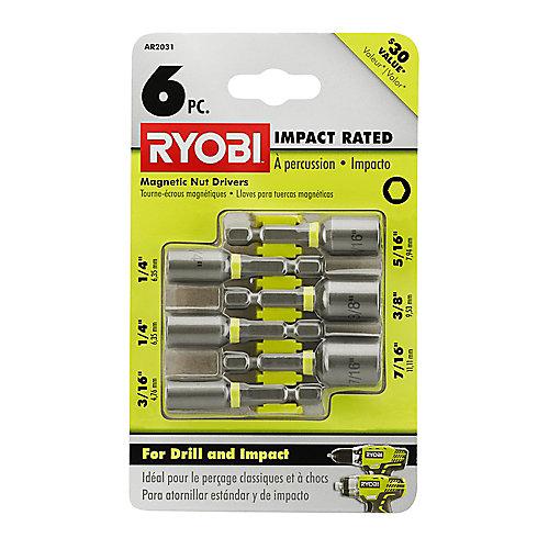 Steel Impact Magnetic Nut Driver Set (6-Piece)