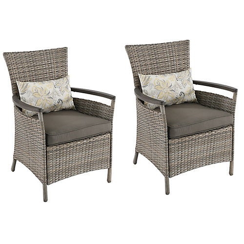 Franklin Estates Steel Patio Dining Chair (2-Pack)