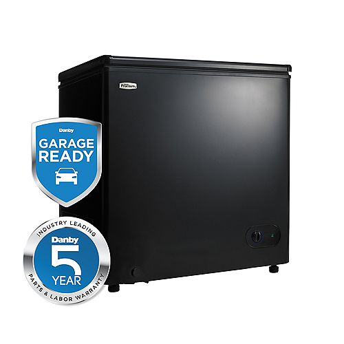 Danby 5.5 cu. ft. Chest Freezer with External Thermostat in Black