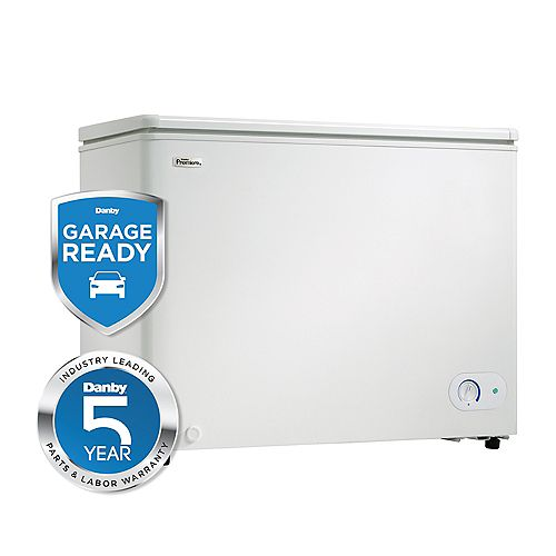 Danby 7.2 cu. ft. Chest Freezer with External Thermostat in White