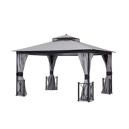 Replacement Mosquito Netting for L-GZ472PST-C-A 10X12 Belcourt Gazebo - Grey