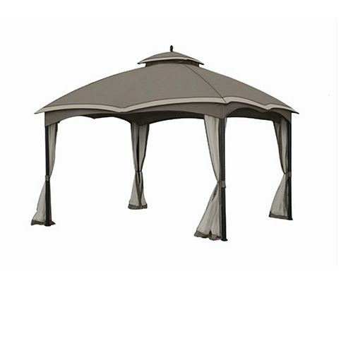 Sunjoy Replacement Mosquito Netting for L-GZ933PST 10X12 Bellagio/Biscayne  Gazebo - Grey