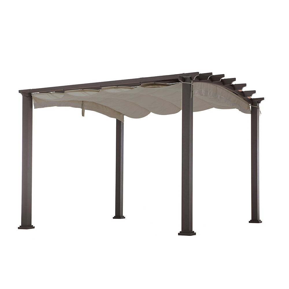 Sunjoy Deluxe Replacement Canopy For L Pg141pco Arched Pergola The Home Depot Canada