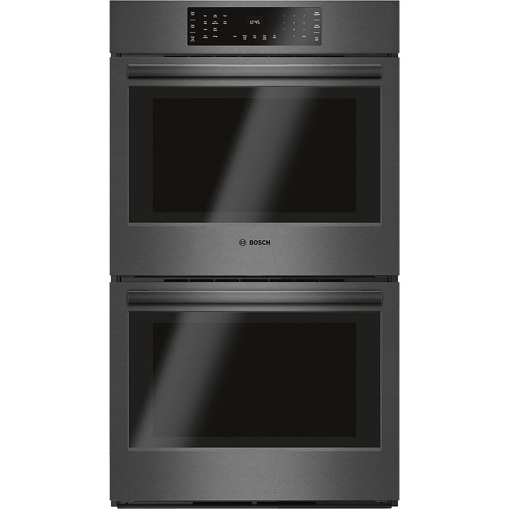 Bosch 800 Series -30 inch Double Wall Oven w/ European Convection - Black Stainless Steel