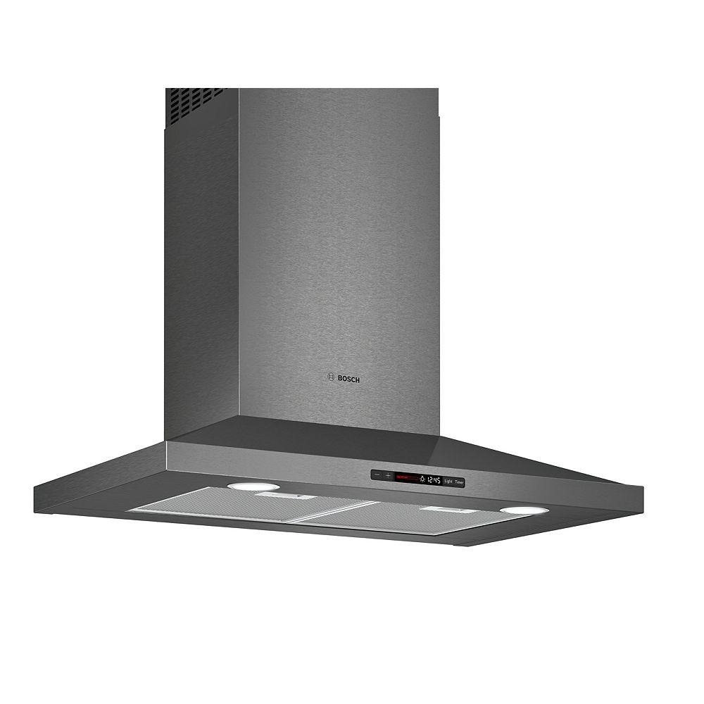 Bosch 800 Series - 30 inch Pyramid Canopy Chimney Hood - 600 CFM - Black Stainless Steel