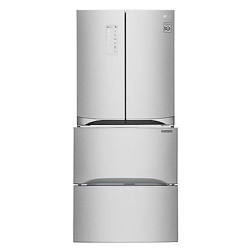 Réfrigérateur à deuxbattants pour aliments de spécialité et kimchi, 14,3pi³, argent platine