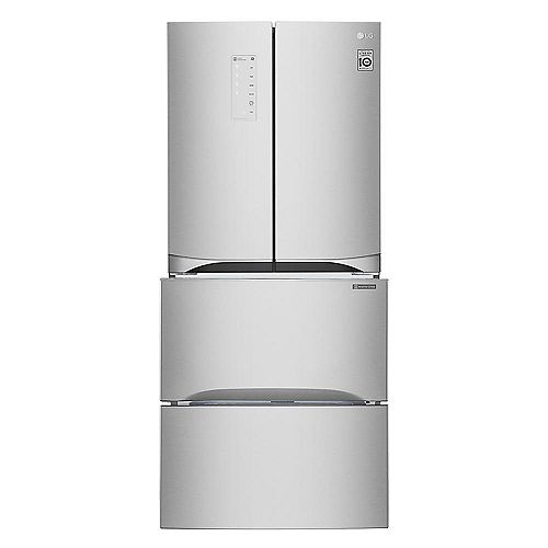 LG Electronics 30-inch W 14.3 cu. ft. Kimchi/Specialty Food French Door Refrigerator in Platinum Silver
