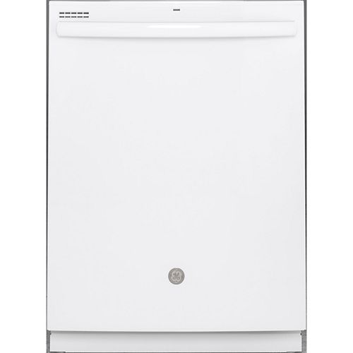 24-inch Top Control Built-In Tall Tub Dishwasher in White with Steam Cleaning