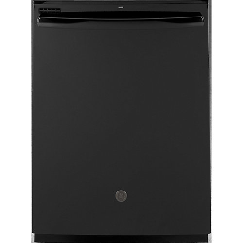 24-inch Top Control Built-In Tall Tub Dishwasher in Black with Steam Cleaning
