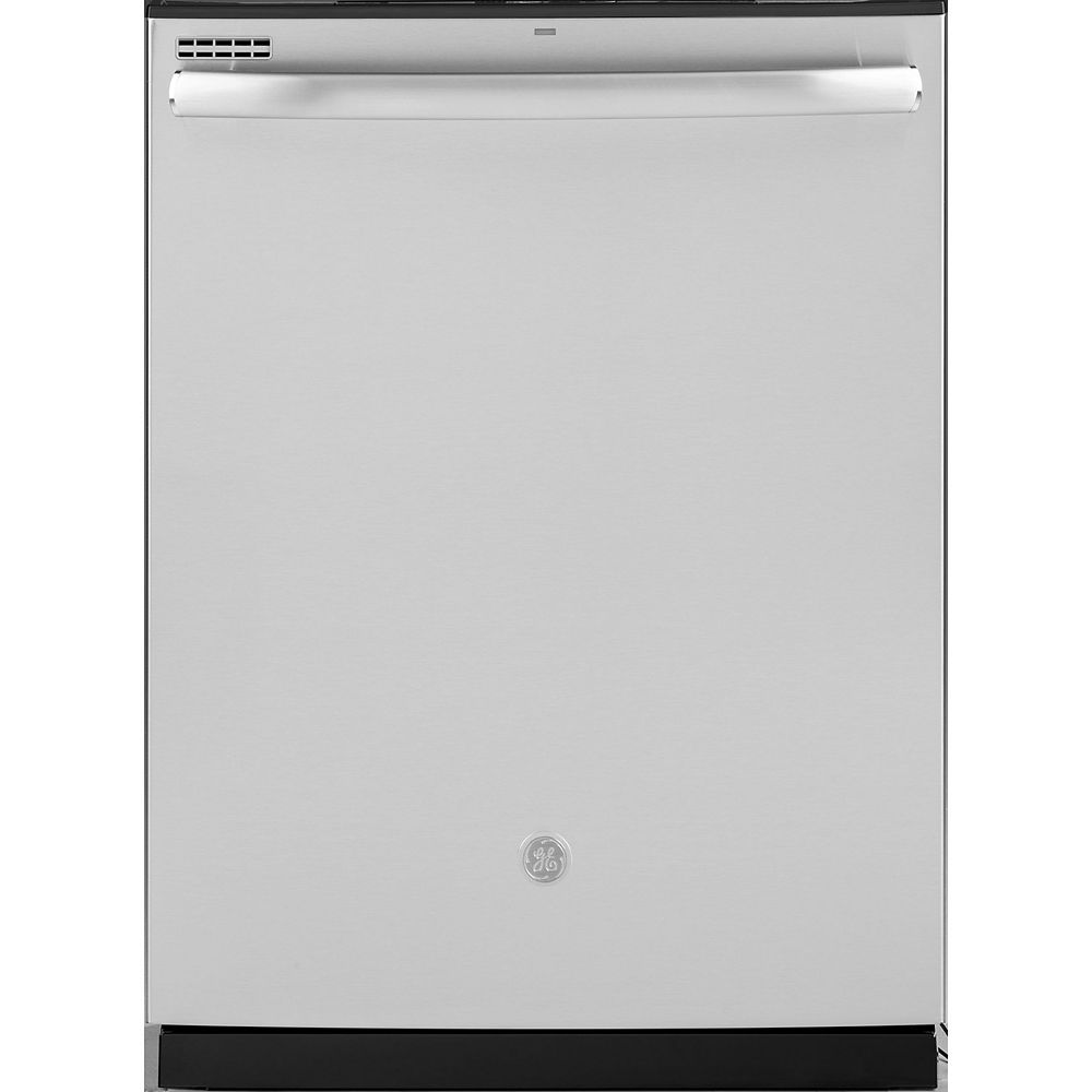 GE 24-inch Top Control Built-In Tall Tub Smart Dishwasher with Steam Cleaning and 48 Dba in Stainless Steel