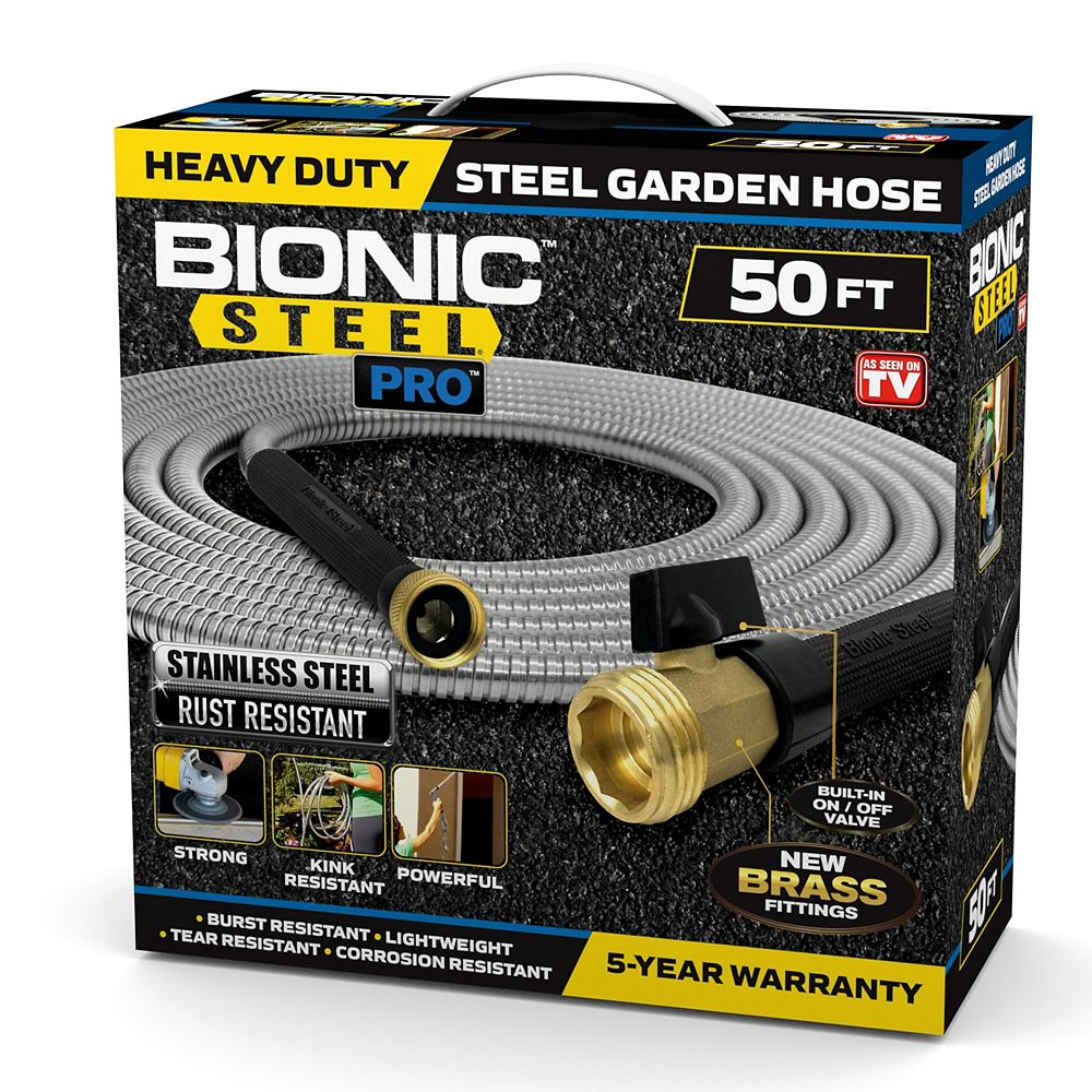 Bionic Steel Pro Stainless Steel Hose 50 ft.