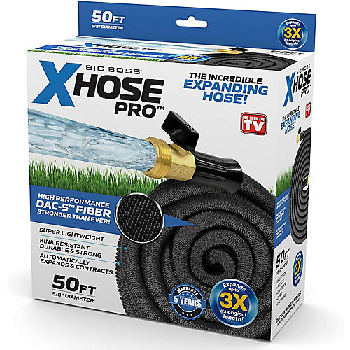 5/8-inch Dia x 50 ft. Pro Dac-5 High Performance Lightweight Expandable Garden Hose