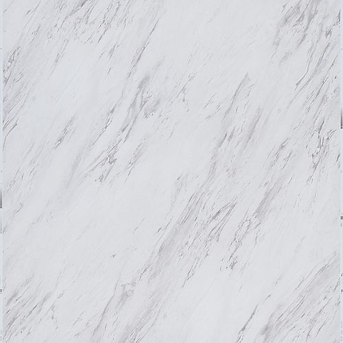 Carrara Marble 12-inch x 24-inch Peel and Stick Vinyl Tile (20 sq. ft. / case)