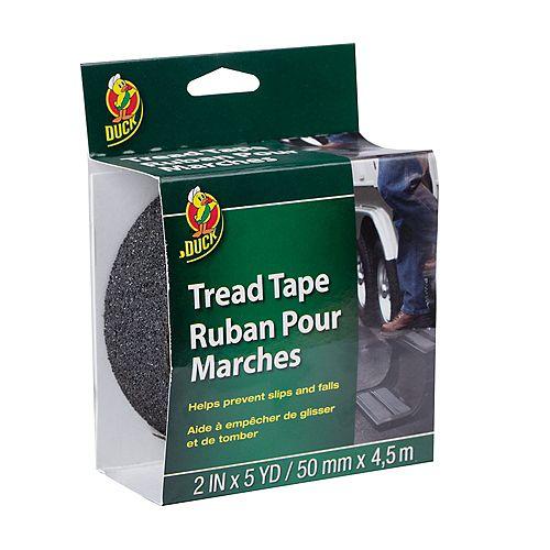 Duck Brand Tread Tape - Black, 2 inch x 5 yd.