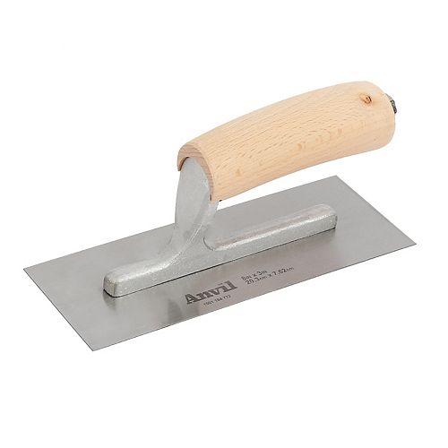 8-inch x 3-inch Mini Trowel Wood Handle